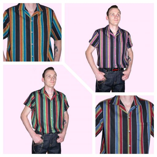 1950s Mens Shirts | Retro Bowling Shirts, Vintage Hawaiian Shirts 50s Short Sleeve Shirts €45.00 AT vintagedancer.com