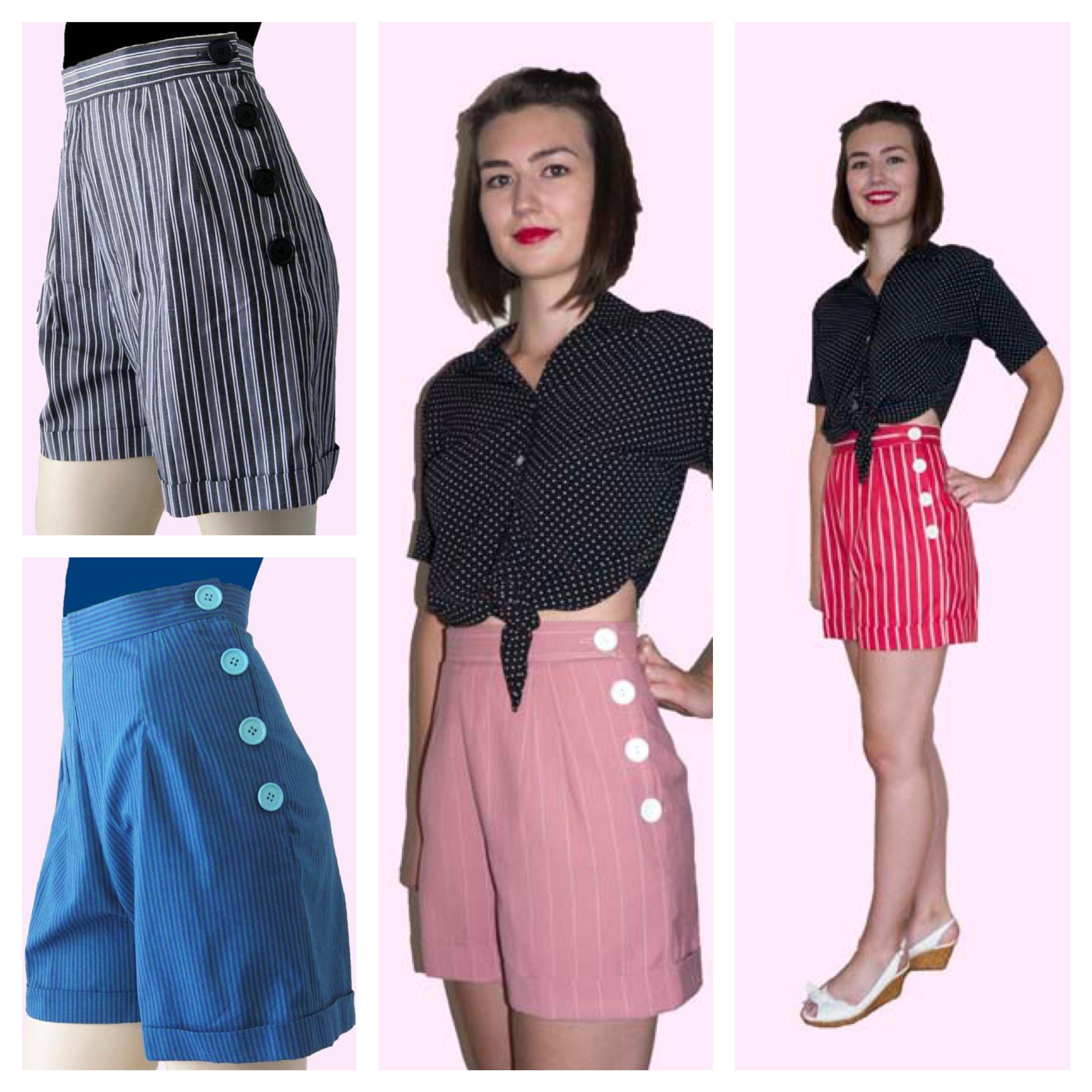 La Riviera 1940 S Style Shorts Stripes Morellos