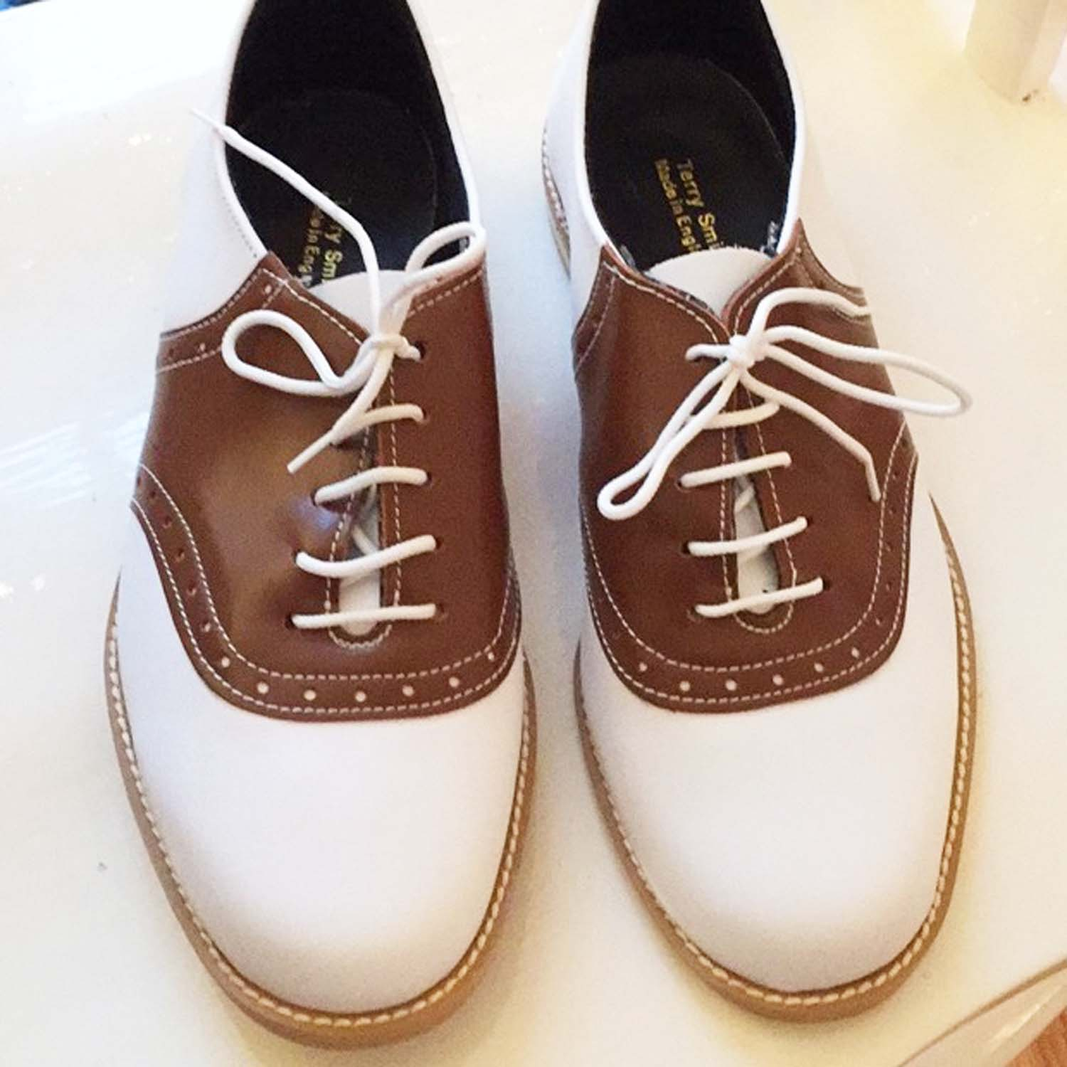 665fc8f651d64 Ladies Terry Smith Saddle Shoes white with Colour Saddle